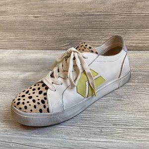 Dolce Vita Zaga leopard calf hair leather sneakers